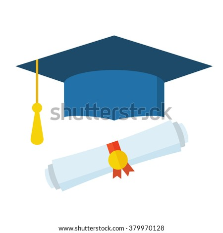 diploma stock images royalty images vectors shutterstock graduation cap and diploma rolled scroll flat design icon finish education symbol graduational day