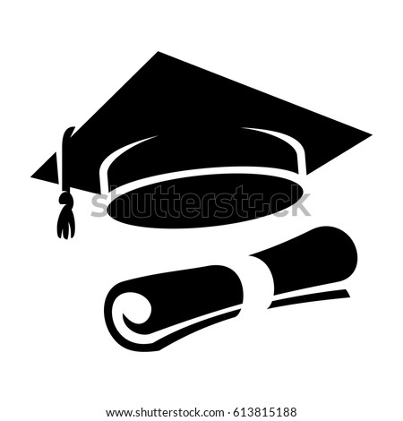 Graduation Cap Icon Stock Vector 607550063 - Shutterstock