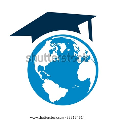 Graduation Cap and Globe Logo