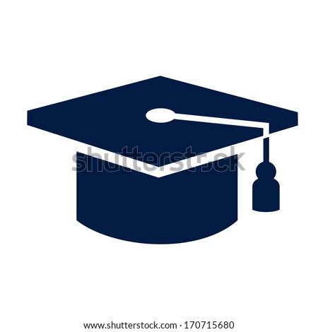 graduation cap icon - stock vector