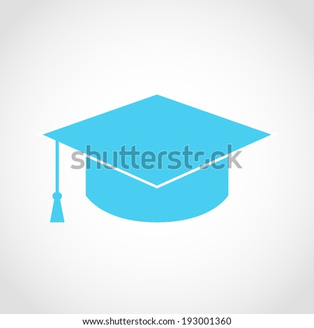 Graduation Cap Icon Isolated on White Background - stock vector
