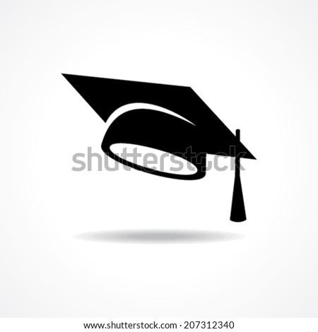 graduation cap symbol stock vector - stock vector