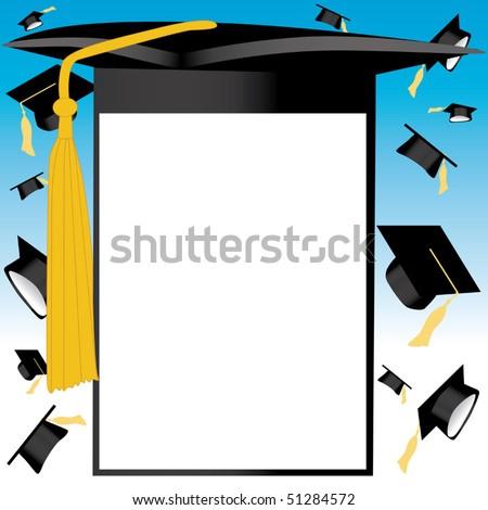 Graduation card vector - stock vector