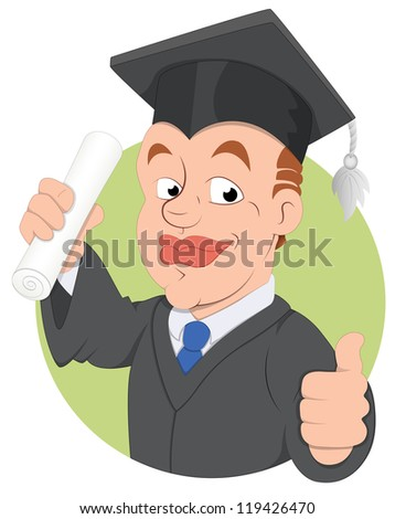 Graduation Day -  Vector Character Illustration - stock vector