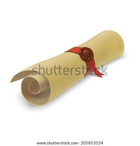 Image Gallery diploma scroll