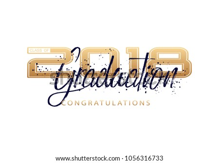 Graduation Label Vector Text Graduation Design Stock-Vektorgrafik ...
