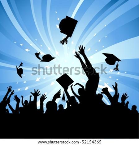 graduation party - stock vector