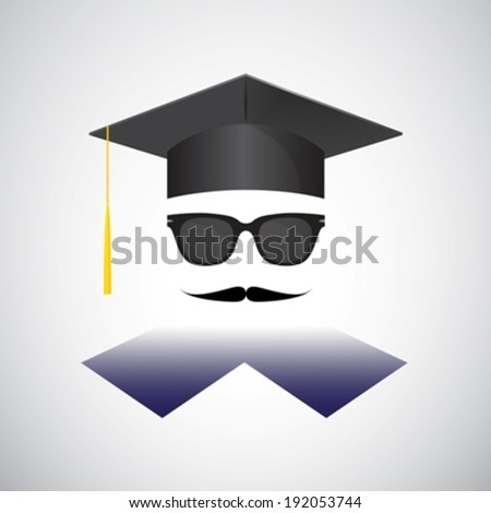 Graduation portrait eps10  - stock vector
