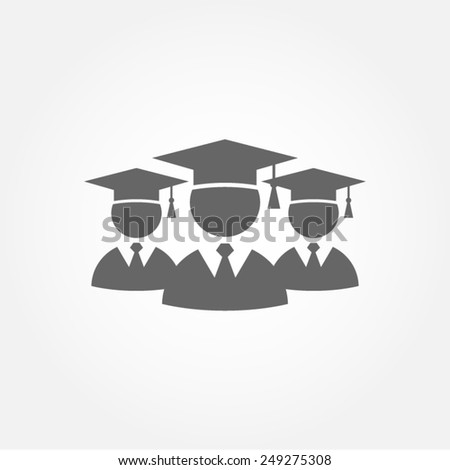graduation student education class college school pictogram vector icon  - stock vector