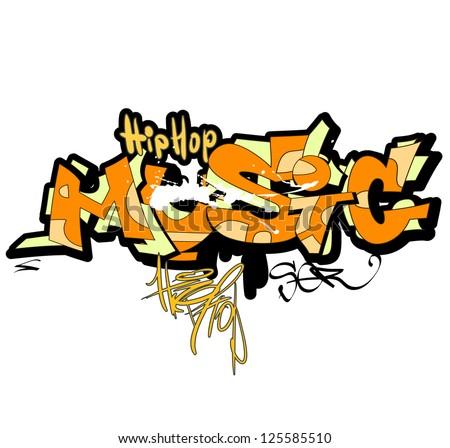 Graffiti background, urban art - stock vector
