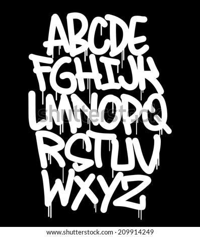 Graffiti Font Stock Vector 209914249 - Shutterstock