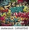 Graffiti grunge texture. Eps 10 - stock vector