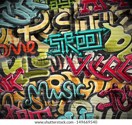 Graffiti grunge texture. Eps 10 - stock vector