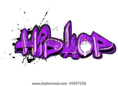graffiti hip-hop design - stock vector