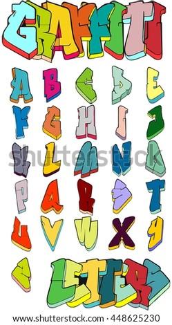 Graffiti letters. Vector illustration - stock vector