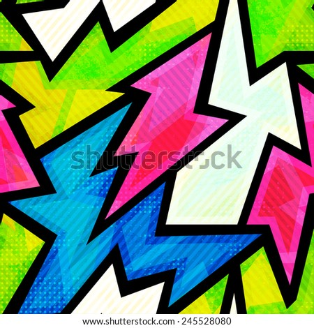 graffiti seamless pattern - stock vector