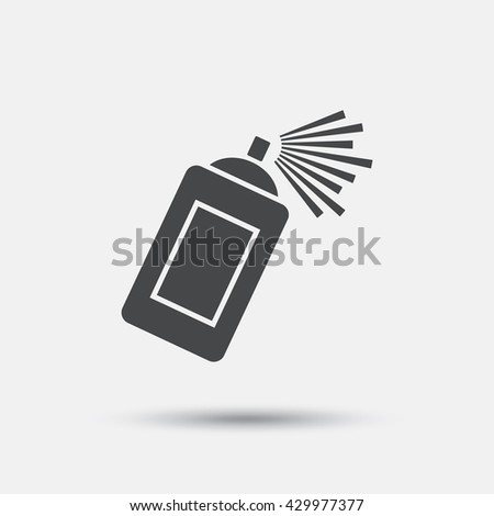Graffiti spray can sign icon. Aerosol paint symbol. Flat paint spray web icon on white background. Vector
