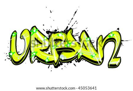 graffiti text urban - stock vector
