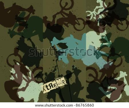 Graffiti Wall Paper - stock vector