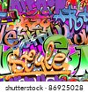 Graffiti wall vector abstract background - stock vector