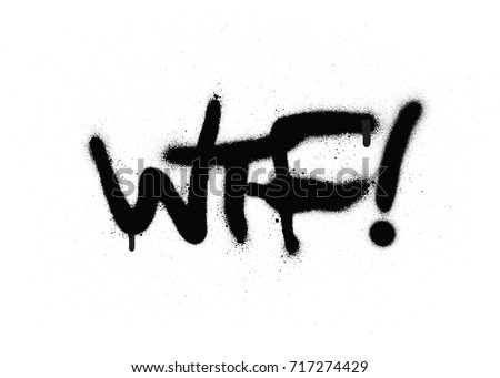 Graffiti Wtf Chat Abbreviation Black Over Stock Vector Hd Royalty