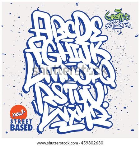 graffiti alphabet street fonts pdf