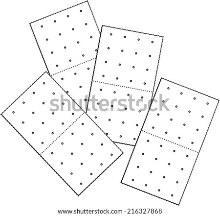 graham crackers - stock vector
