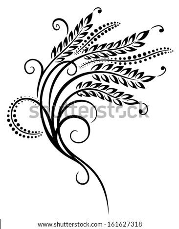 Grain, corn illustration, design element - stock vector