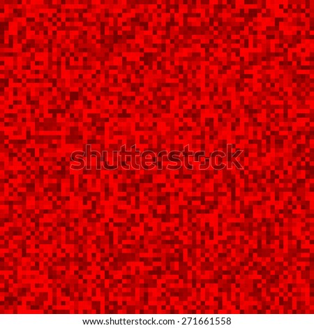 Grainy pattern composed of red squares. Checkered vector background.  - stock vector