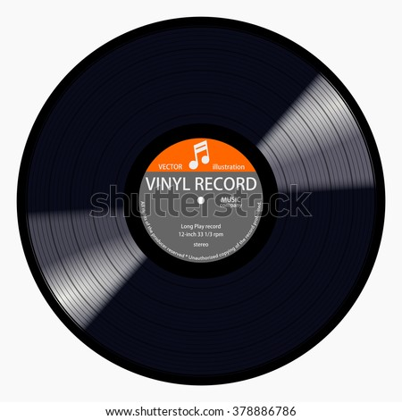 gramophone gray label vinyl lp record stock vector royalty free