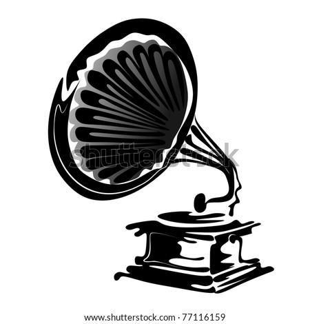 gramophone vector - stock vector