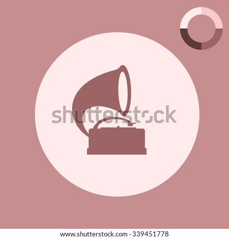 gramophone vector icon
