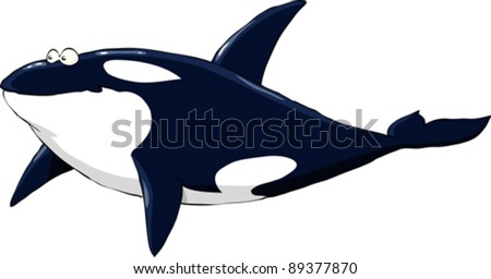 Grampus on a white background, vector illustration - stock vector