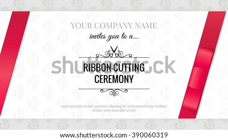 Grand opening invitation card bows elegant stock vector hd royalty grand opening invitation card with bows elegant style vector illustration stopboris Gallery