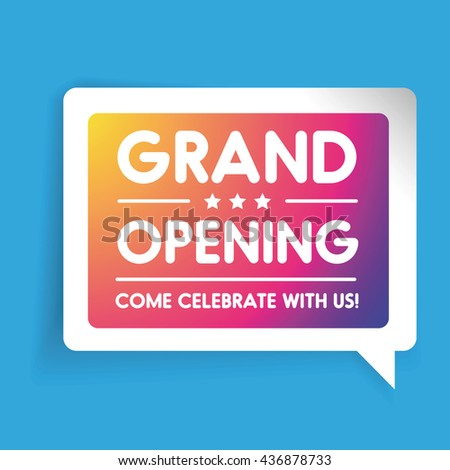 Grand opening invitation label lettering stock vector 436878733 grand opening invitation label lettering stopboris Images