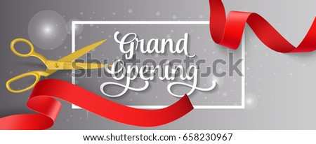 Invitation letter stock images royalty free images vectors grand opening lettering and frame stopboris Choice Image
