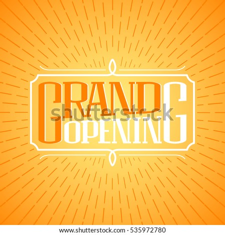 Grand opening vector banner illustration poster stock vector grand opening vector banner illustration poster invitation template decoration design element for stopboris Image collections