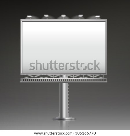 grand outdoor billboard isolated on black background - stock vector