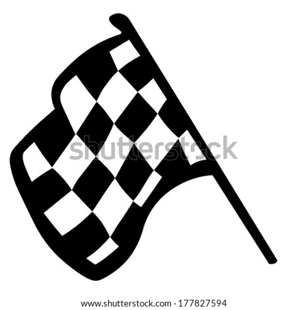 Grand Prix Flag - stock vector
