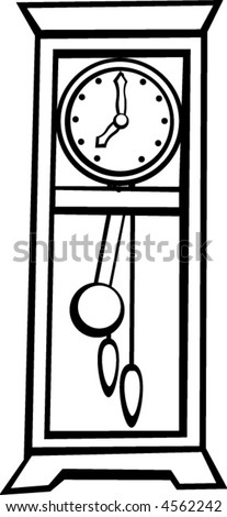 Grandfather Clock Pendulum Drawing