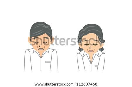 grandpa grandma - stock vector