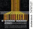 Grange barcode background - vector - stock vector