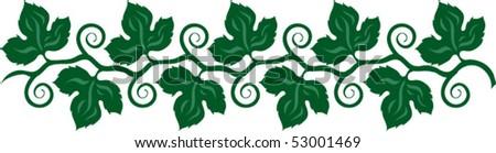 grape decor - stock vector