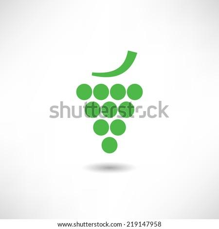 Grape icon - stock vector
