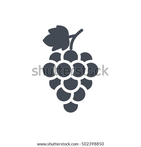 Grape Icon Food Fruits Outlined silhouette