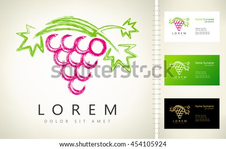 Grape vector logo - stock vector