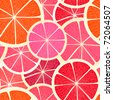 Grapefruit seamless background - stock vector
