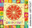 grapefruit vector illustration - stock vector