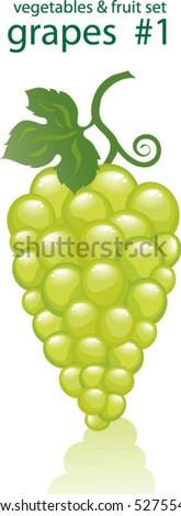 grapes # 1 - stock vector