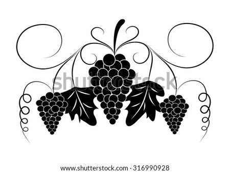 grapes. design element. vector  - stock vector